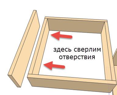 крепим фасад к выдвижному ящику