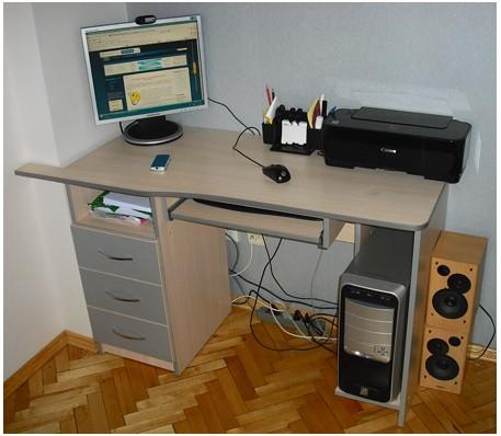Как сделать компьютерный стол своими руками фото