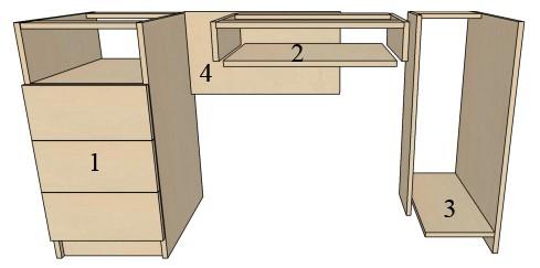 деталировка стола