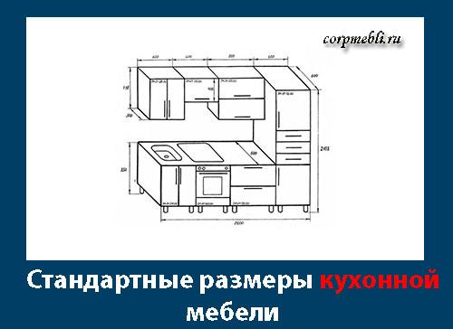 Стандартные размеры кухонной мебели и шкафов. Типовые размеры и стандарты