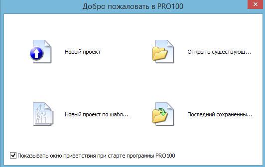 окно запуска программы