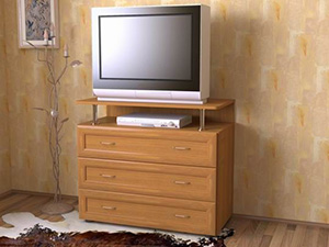 комод под телевизор с рамочными фасадами МДФ