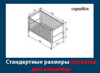 Стандартный размер детской кроватки для новорожденного. Виды детских кроваток