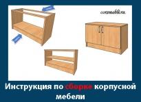 Схема и инструкция по сборке корпусной мебели