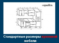 Стандартные размеры кухонной мебели и шкафов: типовые размеры и стандарты