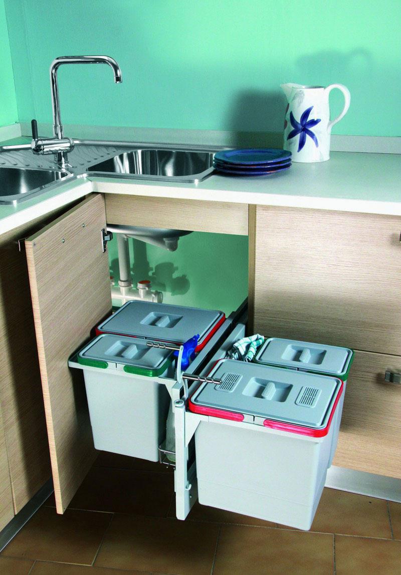 Организация пространства под кухонной мойкой 4