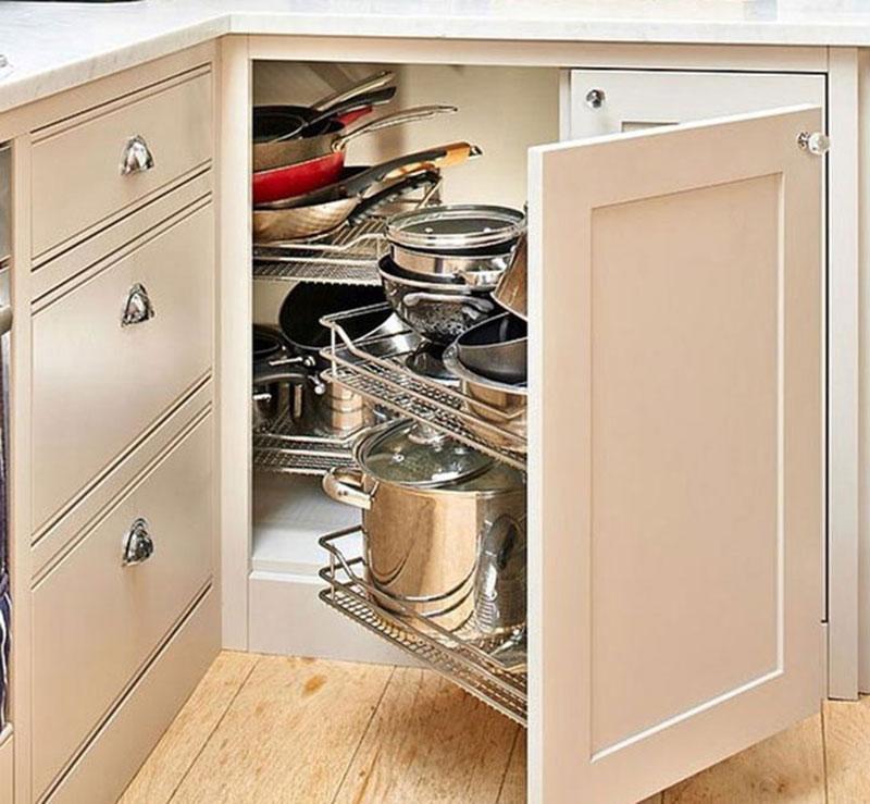 Организация пространства под кухонной мойкой 6