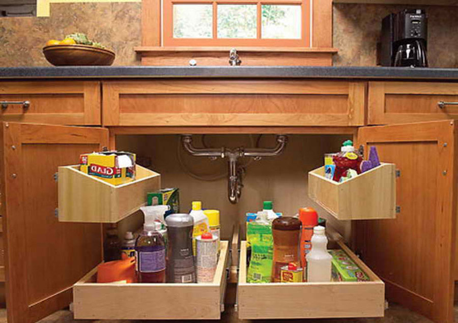 Организация пространства под кухонной мойкой 10