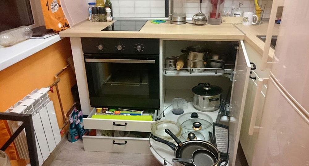 Организация пространства под кухонной мойкой 9