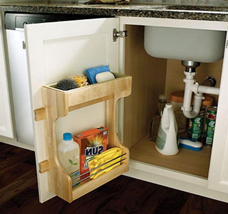 Организация пространства под кухонной мойкой 13