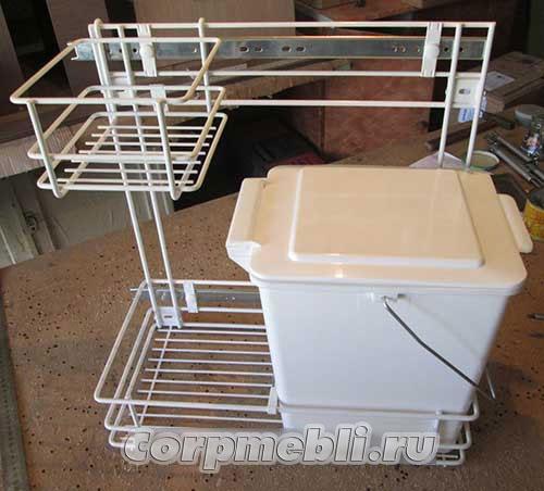 Выдвижная система для мусорного ведра