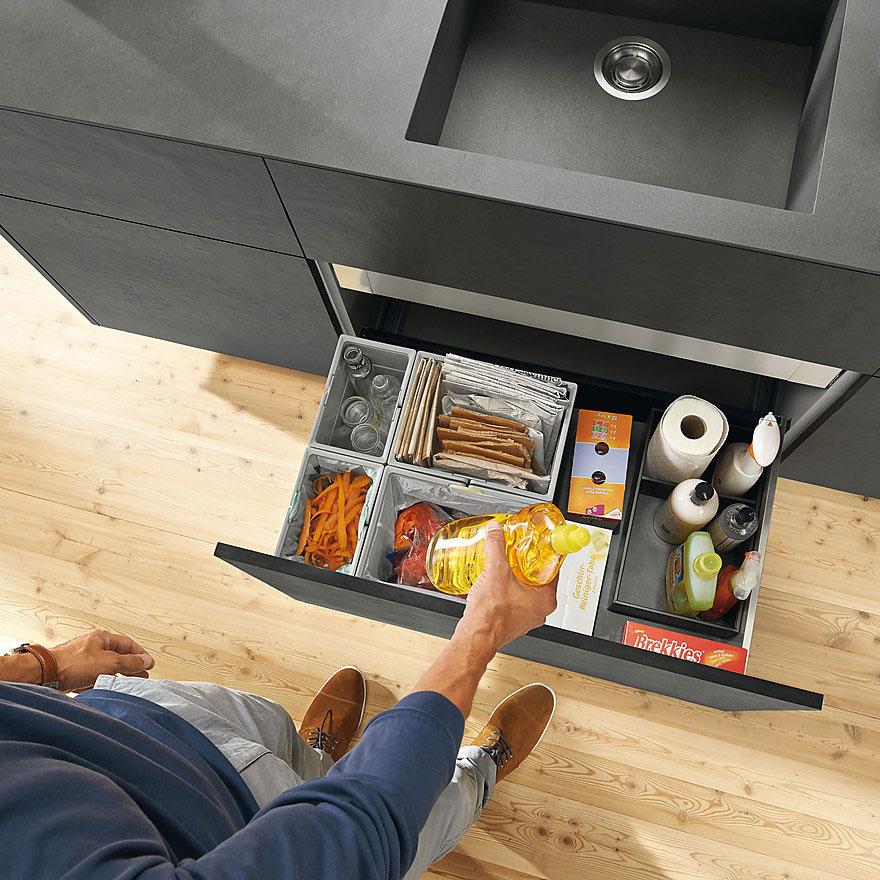 Функциональный выдвижной ящик для кухни