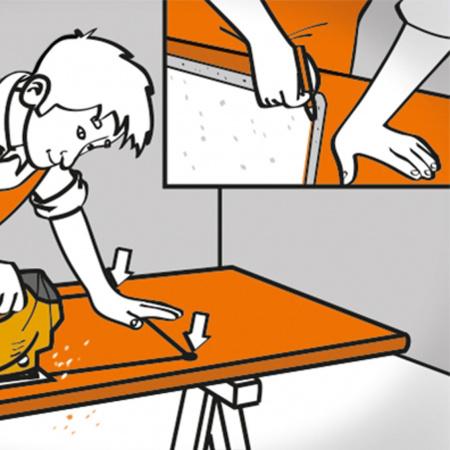 Сделайте отверстие для мойки и варочной панели