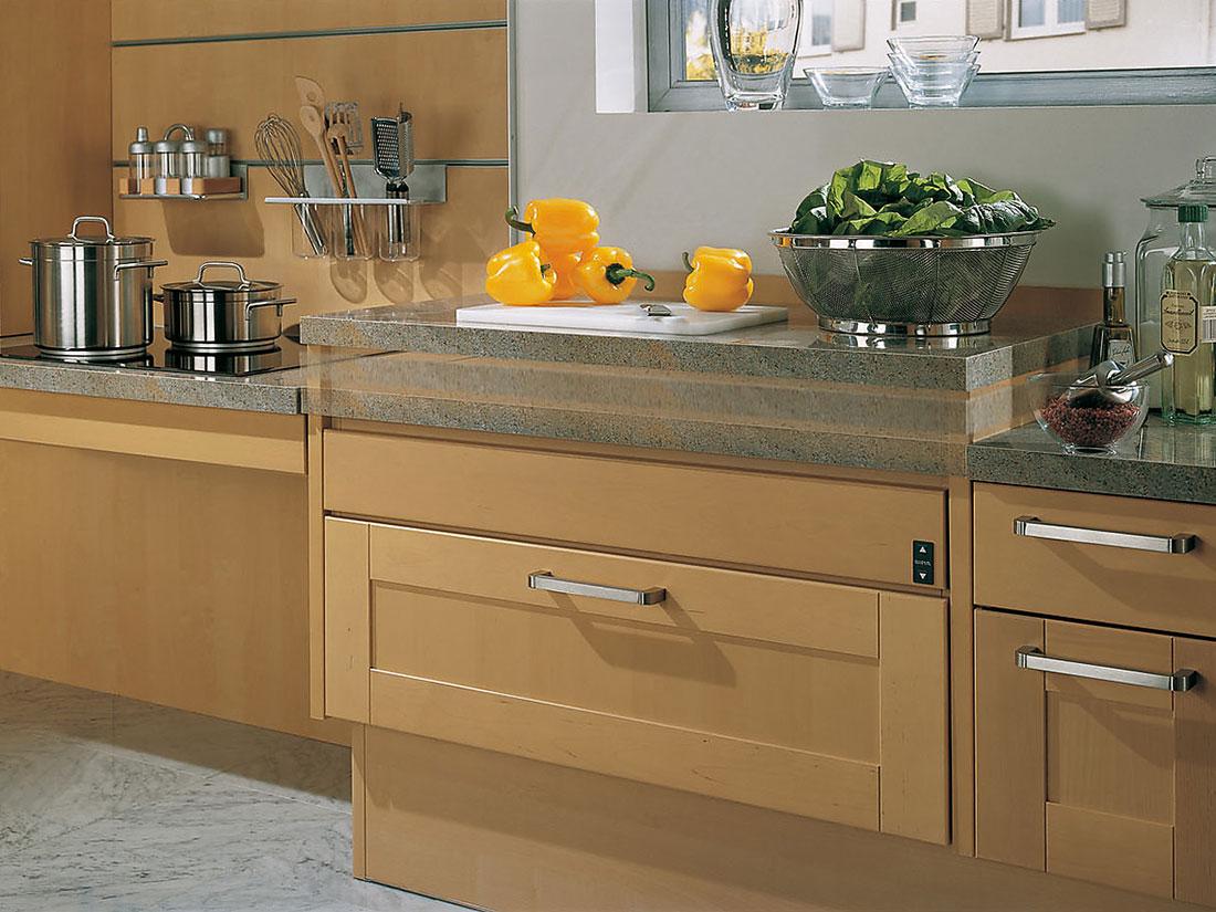 Высота основных зон кухонного гарнитура