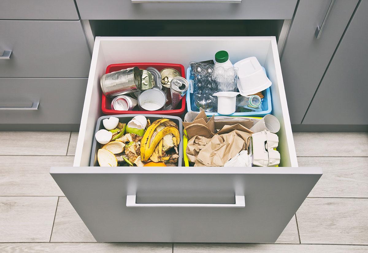 Системы сортировки мусора для кухни