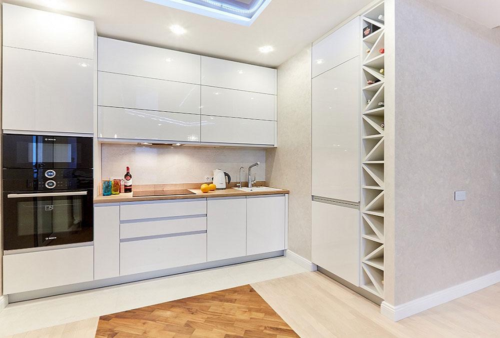Высокие напольные шкафы для кухни