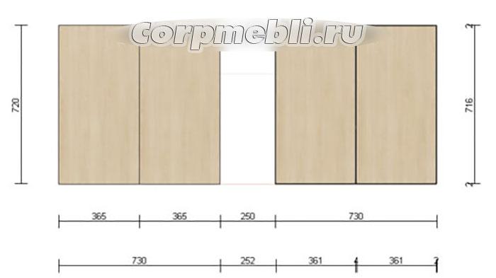 Расчет размеров фасадов для кухонных шкафов