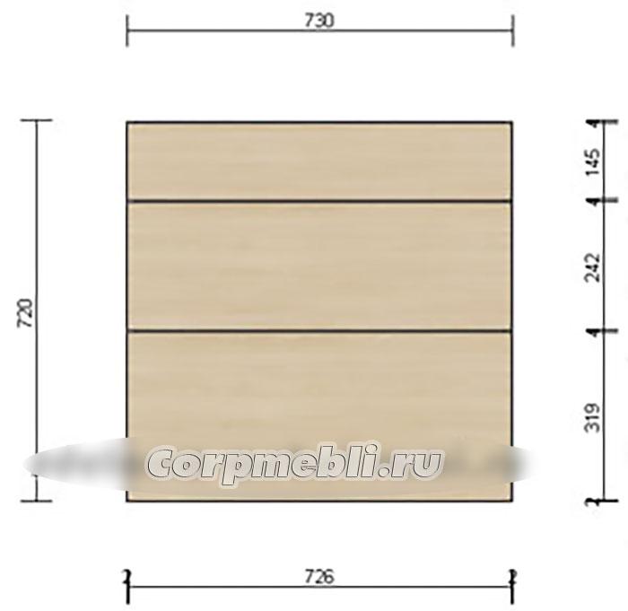 Расчет высоты фасадов для кухни