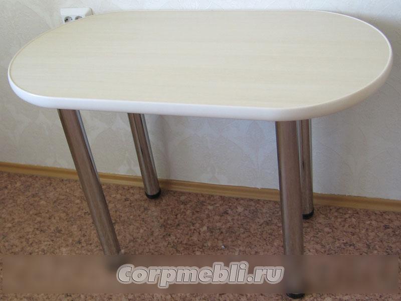 Вариант стола с овальной столешницей