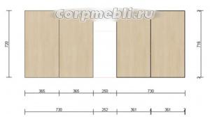 Как рассчитать размеры фасадов для кухни