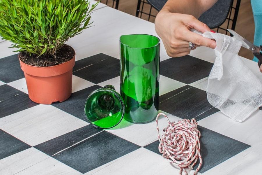 Как разрезать стеклянную бутылку без стеклореза